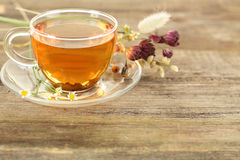 Tea and flowers Royalty Free Stock Photography