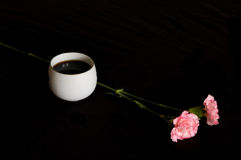 Tea and flowers. Chinese tea and pink flowers Stock Photo