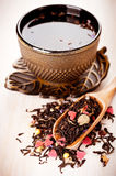Tea with flowers and herbs Stock Images