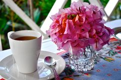 Tea with Flowers Stock Image