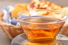 Tea and food background Royalty Free Stock Images