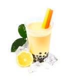 tea för bobabubblacitron Arkivfoton