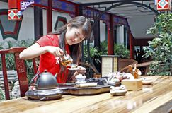 tea för konstporslin s Royaltyfria Foton