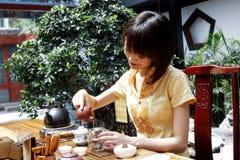 tea för konstporslin s Arkivbilder