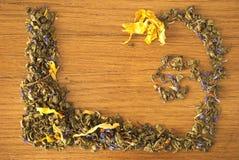 Tea frame royalty free stock photos
