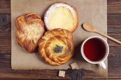 Tea and fresh buns Royalty Free Stock Photo