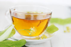 Tea from a fresh lime Stock Images