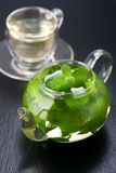 Tea with fresh mint. Vertical Royalty Free Stock Photography