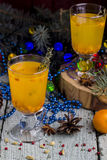 Tea with a fresh sea-buckthorn Royalty Free Stock Images