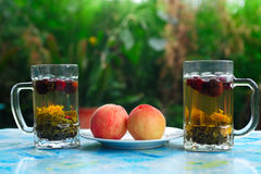 Tea and fruit Royalty Free Stock Photos