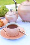 Tea in the garden Stock Images