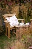 Tea in the Garden. England stock photos