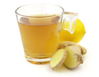 Tea with ginger royalty free stock image