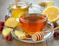 Tea with ginger Royalty Free Stock Images