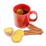Tea, ginger, cinnamon and lemon Royalty Free Stock Photo