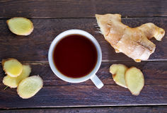 Tea with ginger Stock Photos