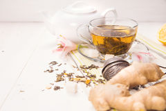 Tea with ginger Stock Image