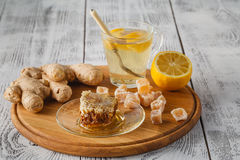 Tea with ginger and lemon Stock Images