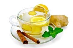 Tea ginger with lemon and cinnamon Stock Image