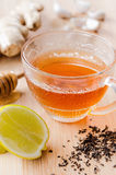 Tea with ginger, lemon and honey Stock Photography