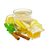 Tea ginger with mint and honey in a mug Royalty Free Stock Image