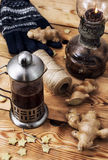 Tea with ginger root Royalty Free Stock Photo