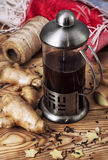 Tea with ginger root Royalty Free Stock Image