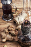 Tea with ginger root Royalty Free Stock Photography