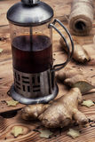 Tea with ginger root Stock Photography