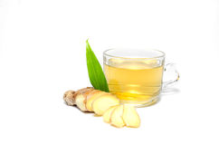 Tea with Ginger Root isolate Royalty Free Stock Photography