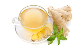 Tea with Ginger Root Stock Images