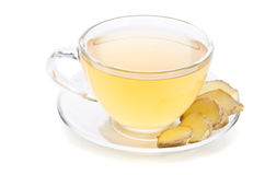 Tea with Ginger Root Stock Photos