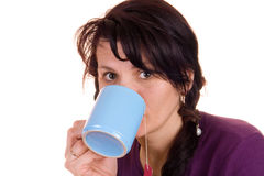 Tea girl Stock Image