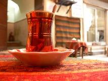 Tea glass. stock photos