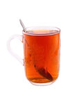 Tea glass with clipping path Stock Image
