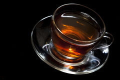 Tea in glass cup Stock Image