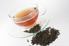 Tea in a glass cup Royalty Free Stock Photo