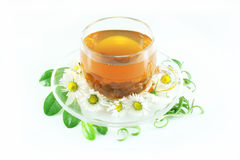 Tea in glass cup Royalty Free Stock Images