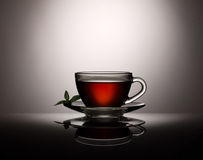Tea in glass cup Royalty Free Stock Photography