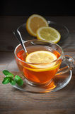 Tea in glass cup Stock Photo