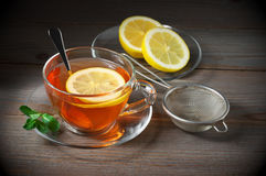 Tea in glass cup Stock Images