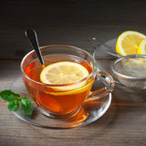 Tea in glass cup Stock Photography