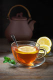 Tea in glass cup Royalty Free Stock Image