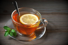 Tea in glass cup Royalty Free Stock Photos
