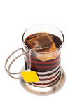 Tea in a glass with a cup holder Royalty Free Stock Photos