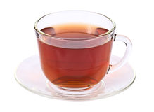 Tea in glass cup isolated on white background Royalty Free Stock Photo