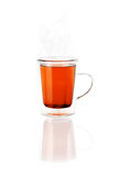 Tea in a Glass Cup or Mug. Isolated and transparent glass cup or mug of tea Stock Photos