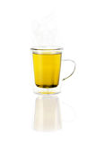 Tea in a Glass Cup or Mug. Isolated and transparent glass cup or mug of tea Stock Photography