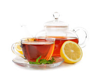 Tea in a glass cup Royalty Free Stock Photography