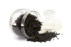 Tea in a glass jar Royalty Free Stock Photography